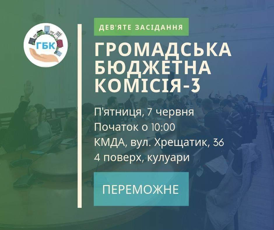 Засідання Громадської бюджетної комісії Києва третього скликання - №9