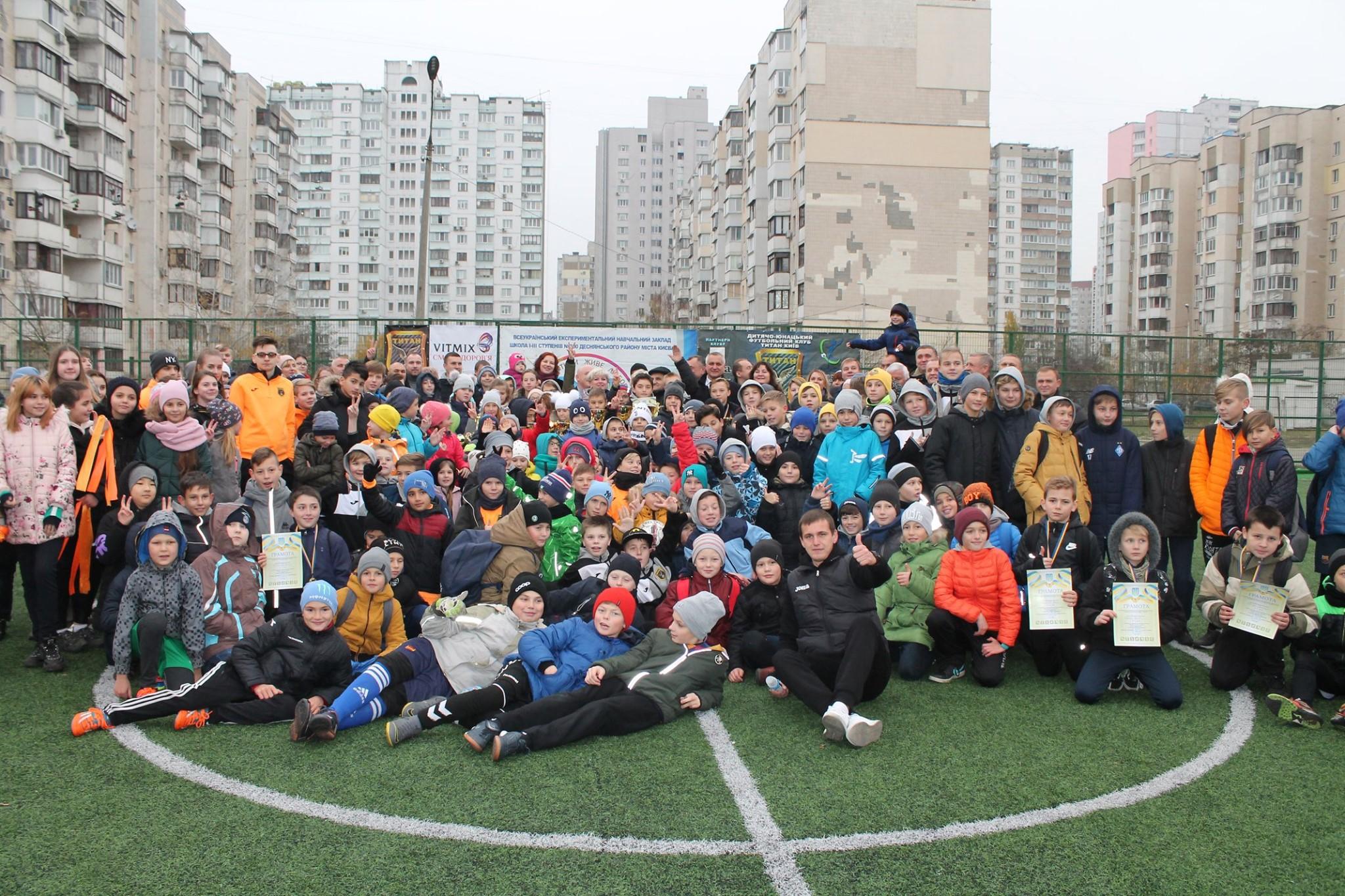 У Деснянському районі в рамках ГБ відкрили стадіон