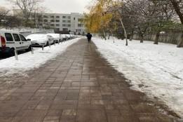 У «Турецькому містечку» Києва облаштували теплі тротуари