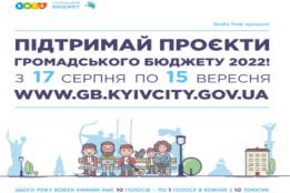 17 серпня стартує голосування за проєкти Громадського бюджету 2022 року