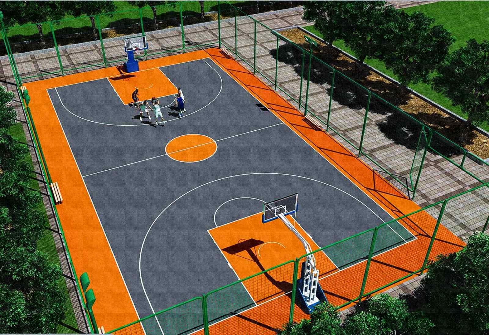 Баскетбольний майданчик на Теремківській